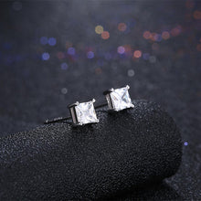 Load image into Gallery viewer, 925 Sterling Silver Simple Fashion Geometric Square Cubic Zircon Stud Earrings
