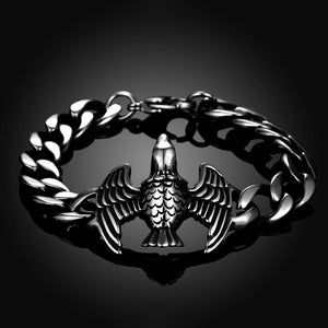 Fashion Ancient Mayan Eagle Titanium Steel Bracelet - Glamorousky