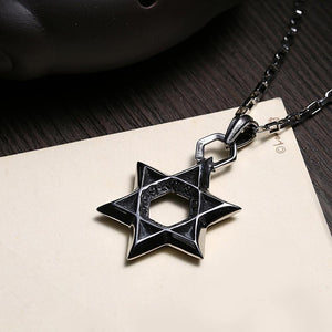 Fashion Ancient Mayan Star Pendant with Titanium Steel Necklace