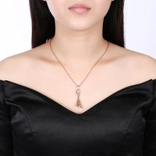 Load image into Gallery viewer, Fashion Elegant Plated Rose Gold Geometric Openwork Pendant with Necklace - Glamorousky