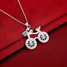 Load image into Gallery viewer, Fashion Simple Bicycle Pendant with Cubic Zircon and Necklace