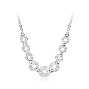 Fashion Simple Geometric Round Necklace - Glamorousky