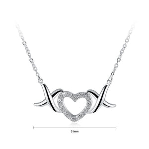 Simple Sweet Heart Cubic Zircon Necklace