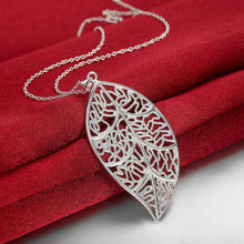 Load image into Gallery viewer, Fashion Hollow Leaf Pendant with Necklace