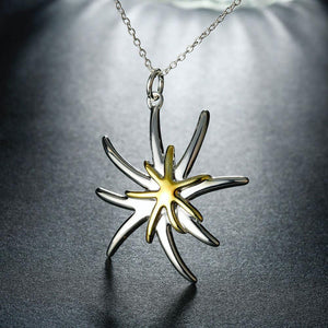 Simple and Fashion Starfish Pendant with Necklace - Glamorousky