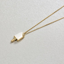 Load image into Gallery viewer, 925 Sterling Silver Plated Gold Creative Fashion Popsicle Pendant with Mother Of Pearl and Necklace