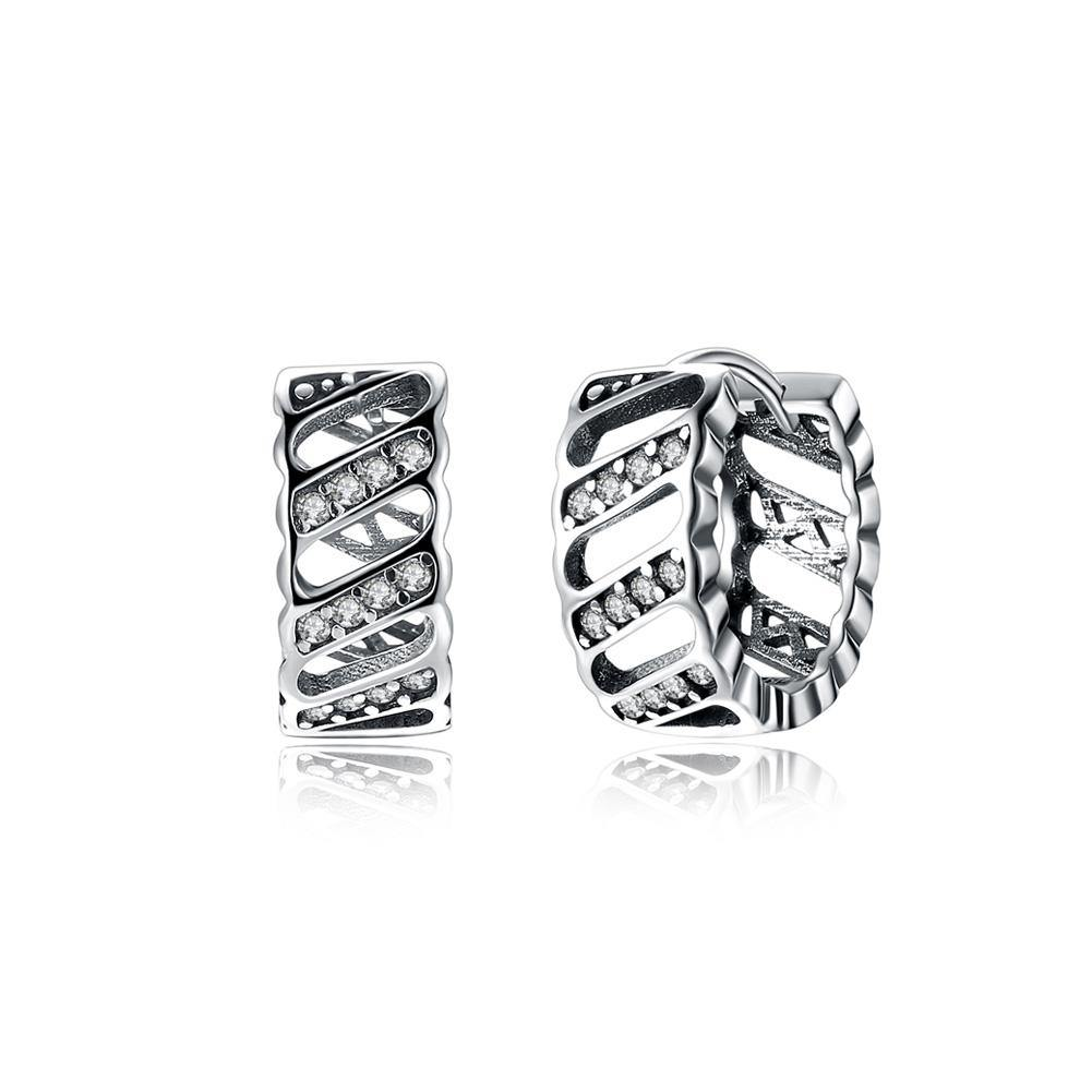 925 Sterling Silver Fashion Personalized Geometric Cubic Zircon Earrings