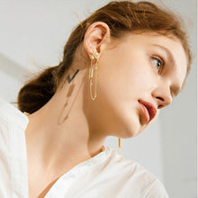 Load image into Gallery viewer, Fashion Plated Gold Giraffe Tassel Earrings with Cubic Zircon - Glamorousky
