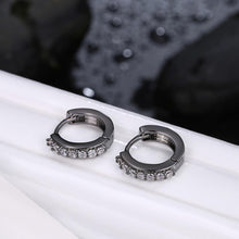 Load image into Gallery viewer, Fashion Simple Geometric Circle Earrings with White Cubic Zircon