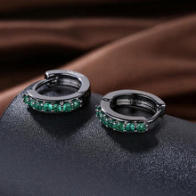 Load image into Gallery viewer, Fashion Simply Geometric Circle Earrings with Green Cubic Zircon