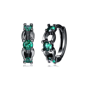 Fashion Elegant Geometric Earrings with Green Cubic Zircon