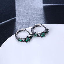 Load image into Gallery viewer, Fashion Elegant Geometric Earrings with Green Cubic Zircon