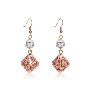 Elegant and Romantic Cutout Diamond Earrings