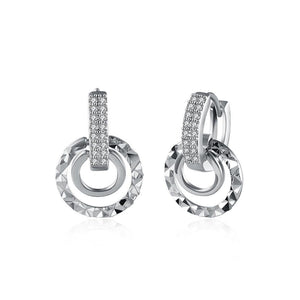 Fashion Simple Geometric Round Cubic Zircon Earrings - Glamorousky