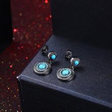 Load image into Gallery viewer, Elegant Vintage Geometric Round Turquoise Earrings - Glamorousky