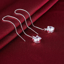 Load image into Gallery viewer, Fashion Cute Cat Cubic Zircon Long Earrings