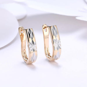Fashion Simple Plated Champagne Gold Pattern Earrings