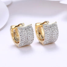 Load image into Gallery viewer, Fashion Dazzling Plated Champagne Gold Geometric Cubic Zircon Earrings