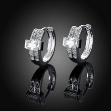 Load image into Gallery viewer, Fashion Bright Geometric Round Cubic Zirconia Stud Earrings