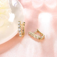 Load image into Gallery viewer, Fashion Elegant Plated Gold Geometric Cubic Zirconia Stud Earrings