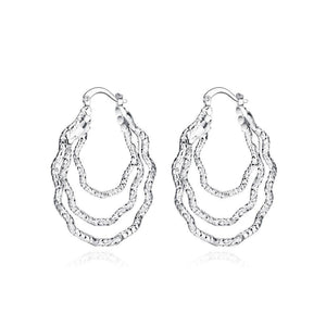 Fashion Simple Curved Geometric Earrings - Glamorousky