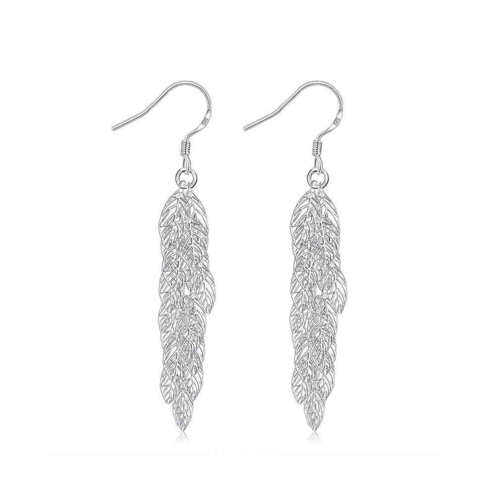 Fashion Romantic Hollow Leaf Earrings - Glamorousky