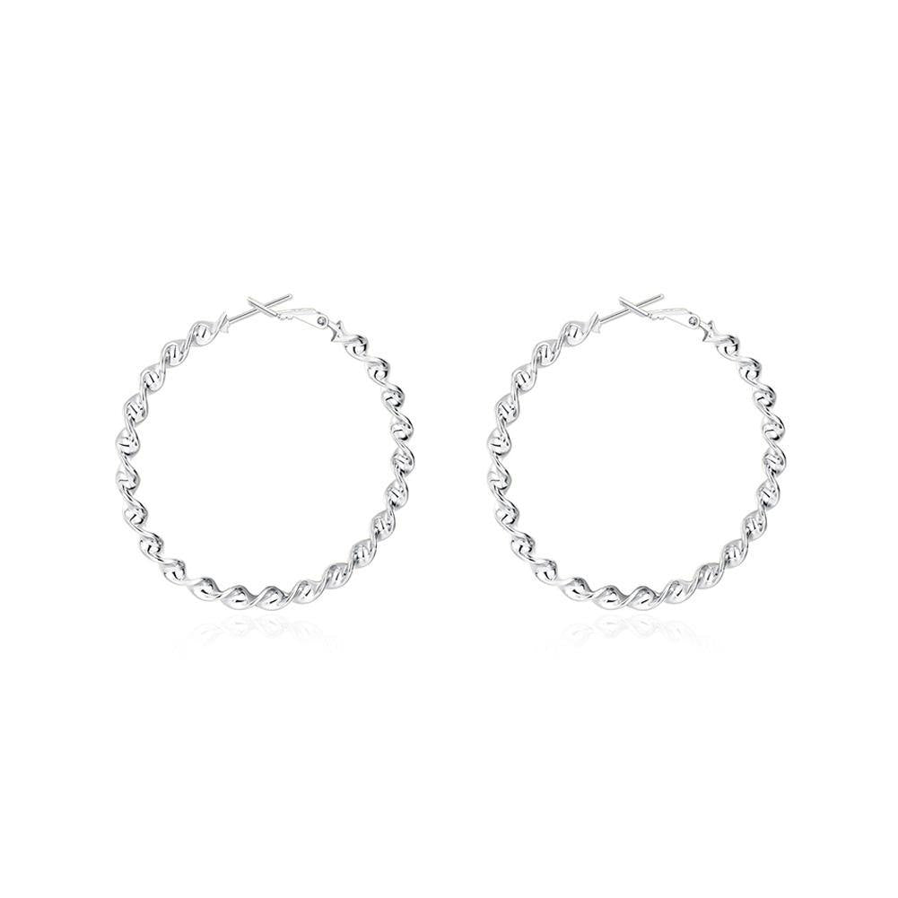 Simple and Fashion Round Twist Earrings - Glamorousky