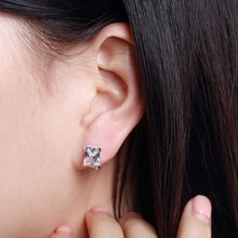 Load image into Gallery viewer, Simple and Fashion Geometric Rectangular Cubic Zircon Stud Earrings