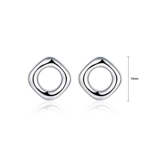 Simple and Fashion Hollow Geometric Round Stud Earrings