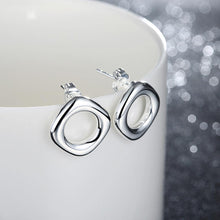 Load image into Gallery viewer, Simple and Fashion Hollow Geometric Round Stud Earrings - Glamorousky
