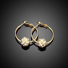 Load image into Gallery viewer, Fashion Elegant Plated Gold Geometric Round Cubic Zircon Earrings