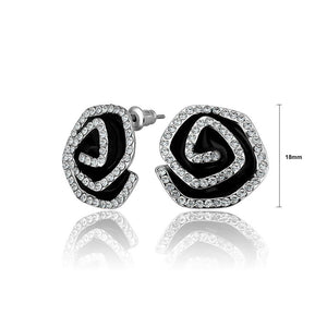 Fashion Bright Flower Cubic Zircon Stud Earrings