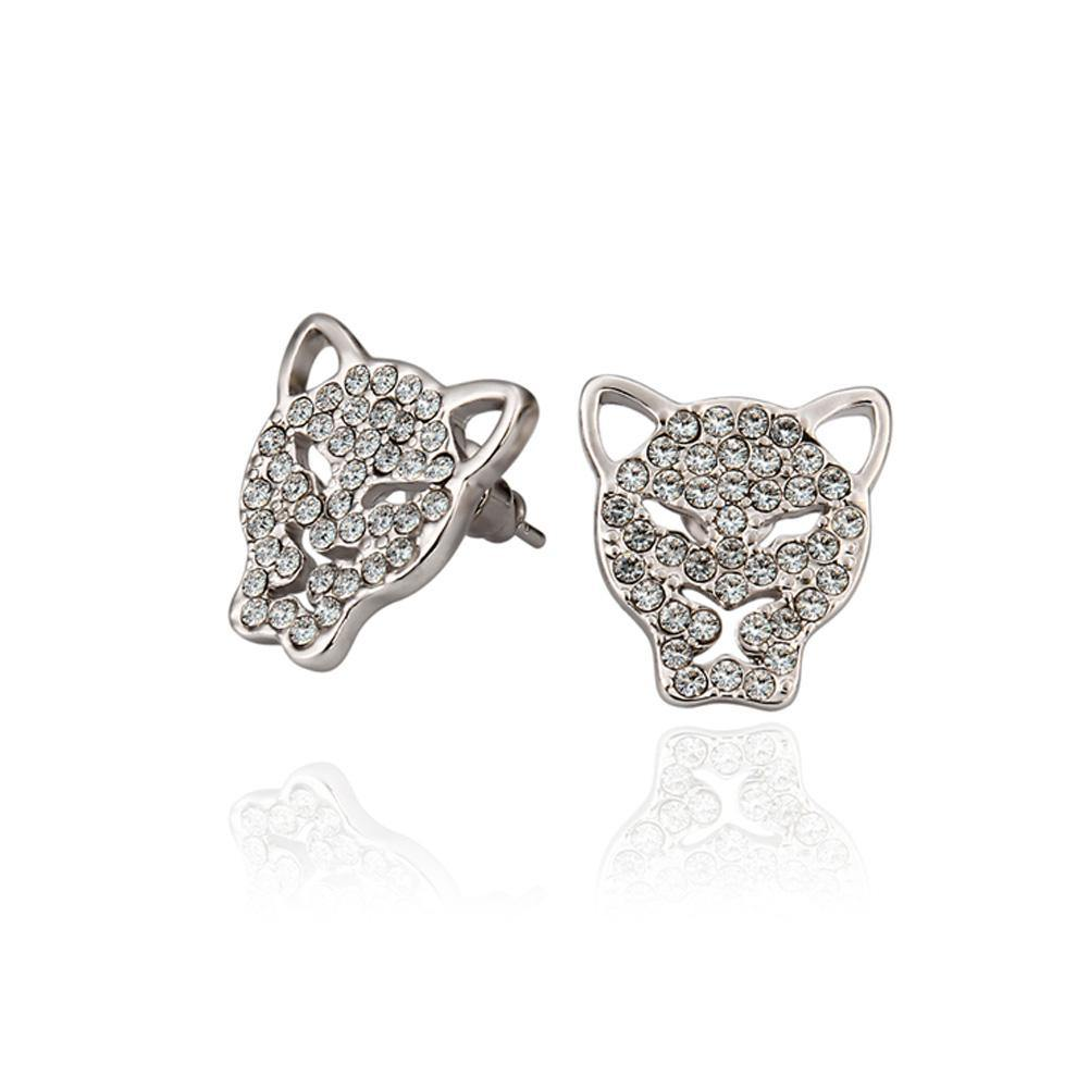 Fashion Bright Cheetah Stud Earrings