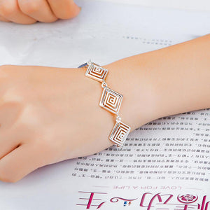 Fashion Simple Geometric Diamond Threaded Bracelet