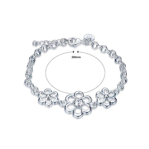 Fashion Elegant Hollow Flower Cubic Zircon Bracelet