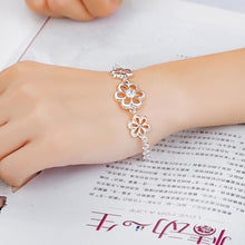 Load image into Gallery viewer, Fashion Elegant Hollow Flower Cubic Zircon Bracelet