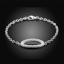 Load image into Gallery viewer, Simple and Fashion Geometric Oval Cubic Zircon Bracelet