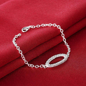 Simple and Fashion Geometric Oval Cubic Zircon Bracelet
