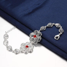 Load image into Gallery viewer, Fashion Elegant Hollow Flower Red Cubic Zircon Bracelet