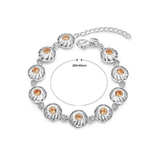 Load image into Gallery viewer, Fashion Elegant Geometric Round Champagne Cubic Zircon Bracelet