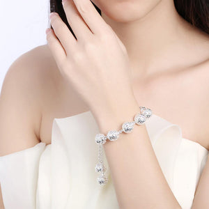 Fashion Simple Geometric Hollow Sphere Bracelet