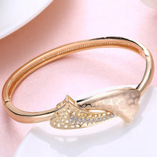 Load image into Gallery viewer, Fashion Elegant Plated Champagne Gold Geometric Cubic Zircon Bangle - Glamorousky