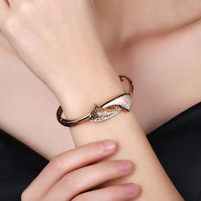 Load image into Gallery viewer, Fashion Elegant Plated Champagne Gold Geometric Cubic Zircon Bangle