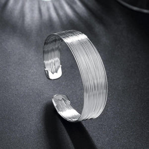 Fashion Exaggerated Line Wide Bangle