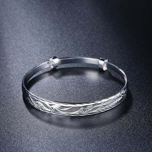 Fashion Elegant Carved Phoenix Bangle - Glamorousky