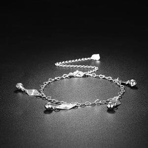 Simple and Fashion Geometric Diamond Bell Anklet