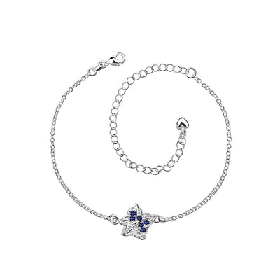 Fashion Simple Star Blue Cubic Zircon Anklet