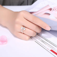 Load image into Gallery viewer, Fashion Romantic Heart-shaped Cat Cubic Zircon Adjustable Ring