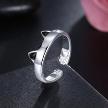 Load image into Gallery viewer, Simple Cute Cat Opening Adjustable Ring