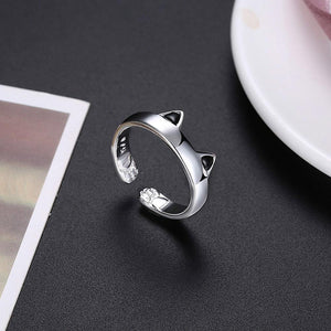 Simple Cute Cat Opening Adjustable Ring